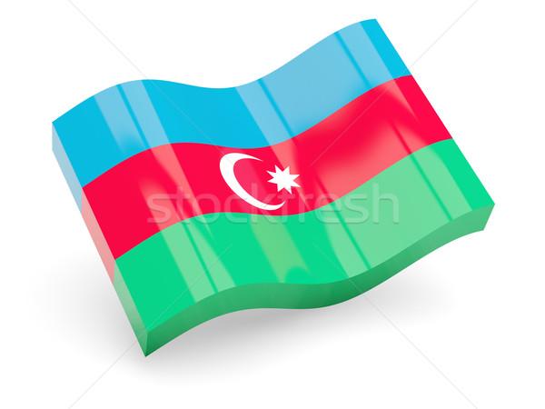 3D banderą Azerbejdżan odizolowany biały podróży Zdjęcia stock © MikhailMishchenko