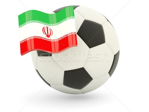 Football with flag of iran Stock photo © MikhailMishchenko