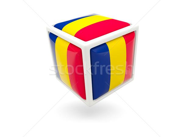 Bandera Chad cubo icono aislado blanco Foto stock © MikhailMishchenko