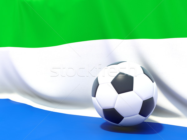 Flag of sierra leone with football in front of it Stock photo © MikhailMishchenko