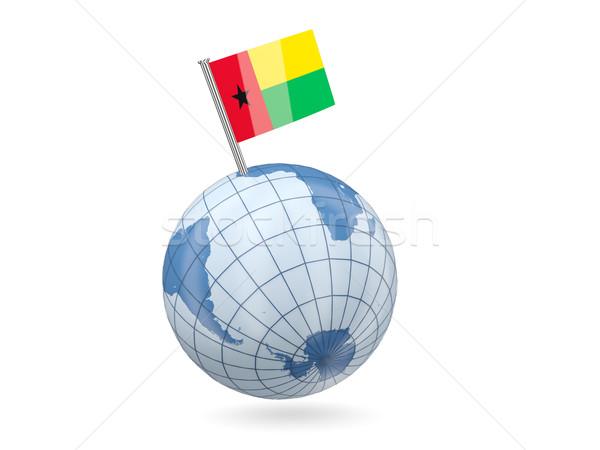 Globe with flag of guinea bissau Stock photo © MikhailMishchenko