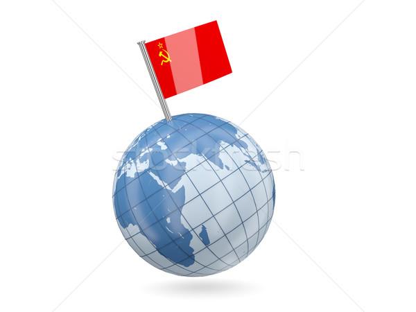 Mundo bandera urss azul aislado blanco Foto stock © MikhailMishchenko