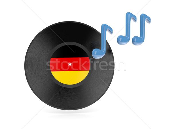 виниловых диск флаг Германия изолированный белый Сток-фото © MikhailMishchenko