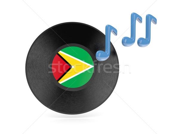 Bakelit lemez zászló Guyana izolált fehér Stock fotó © MikhailMishchenko