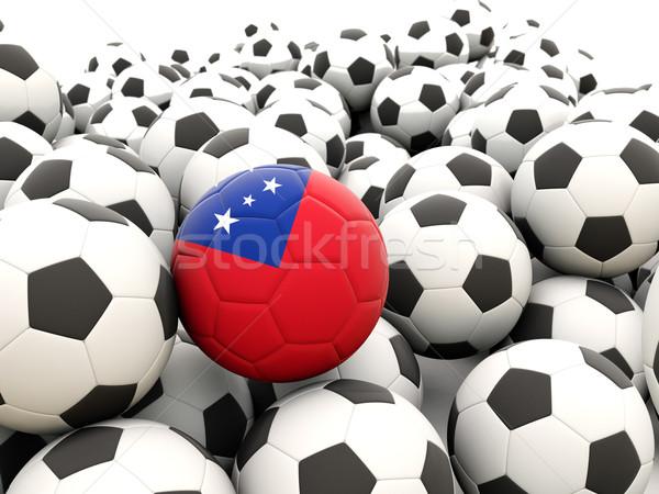 Futebol bandeira Samoa regular verão Foto stock © MikhailMishchenko