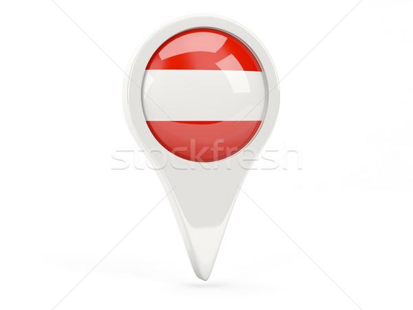 Bandeira ícone Áustria isolado branco mapa Foto stock © MikhailMishchenko