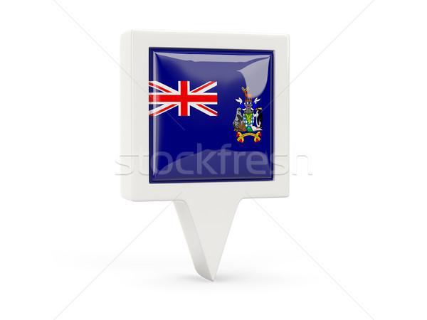 Cuadrados bandera icono sur Georgia aislado Foto stock © MikhailMishchenko