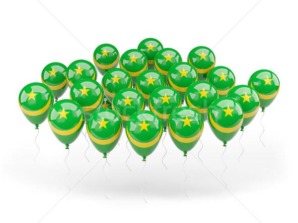 Сток-фото: шаров · флаг · Мавритания · изолированный · белый · стране