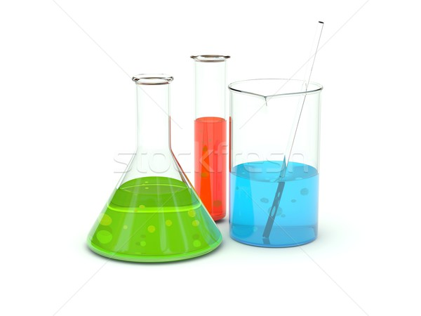Chemical glassware Stock photo © MikhailMishchenko
