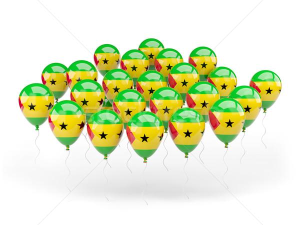 Balloons with flag of sao tome and principe Stock photo © MikhailMishchenko