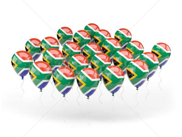 Ballons pavillon Afrique du Sud isolé blanche pays Photo stock © MikhailMishchenko