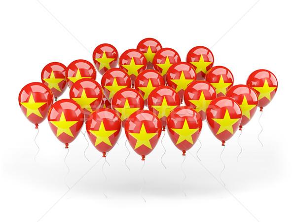 Ballons pavillon Viêt-Nam isolé blanche pays Photo stock © MikhailMishchenko