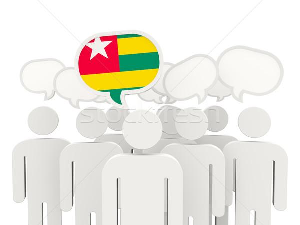 Persone bandiera Togo isolato bianco riunione Foto d'archivio © MikhailMishchenko