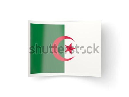 квадратный икона флаг Алжир металл кадр Сток-фото © MikhailMishchenko