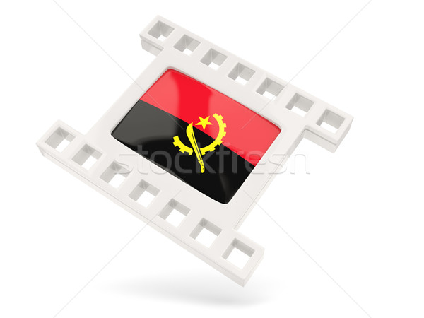 Movie icon with flag of angola Stock photo © MikhailMishchenko