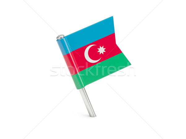 Zászló tő Azerbajdzsán izolált fehér utazás Stock fotó © MikhailMishchenko