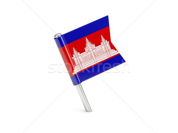 フラグ ピン カンボジア 孤立した 白 世界 ストックフォト © MikhailMishchenko