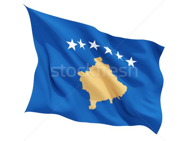 Waving flag of kosovo Stock photo © MikhailMishchenko