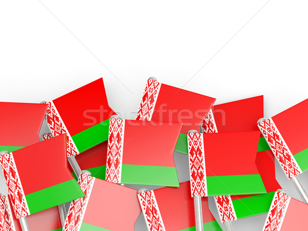 Flag pin of belarus Stock photo © MikhailMishchenko