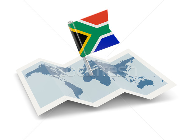 Map with flag of south africa Stock photo © MikhailMishchenko