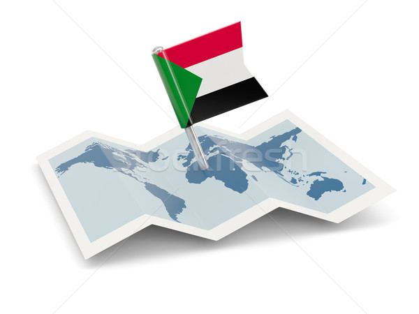 Map with flag of sudan Stock photo © MikhailMishchenko
