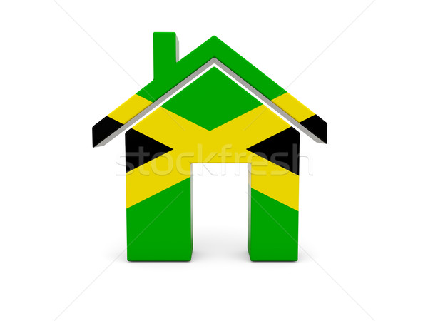 Casa bandeira Jamaica isolado branco pesquisar Foto stock © MikhailMishchenko