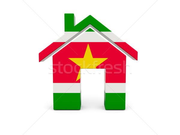 домой флаг Суринам изолированный белый стране Сток-фото © MikhailMishchenko