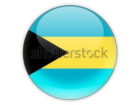 ícone bandeira Bahamas isolado branco viajar Foto stock © MikhailMishchenko