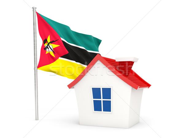 House with flag of mozambique Stock photo © MikhailMishchenko