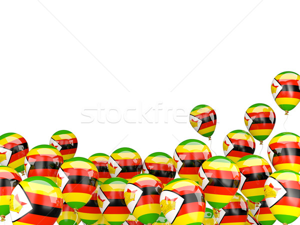 Flying balloons with flag of zimbabwe Stock photo © MikhailMishchenko