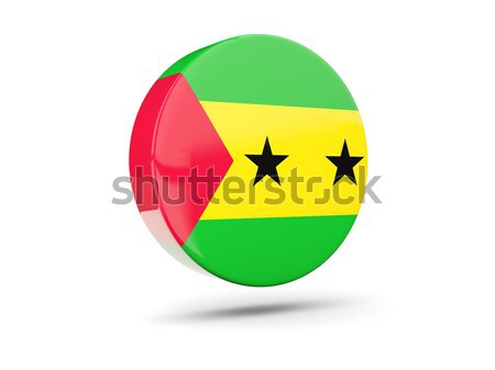 Round icon with flag of sao tome and principe Stock photo © MikhailMishchenko