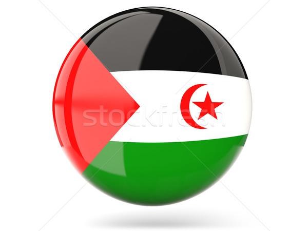 Icon vlag westerse sahara glanzend teken Stockfoto © MikhailMishchenko