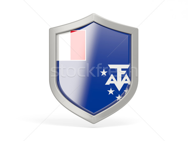 Shield icon with flag of french southern territories Stock photo © MikhailMishchenko