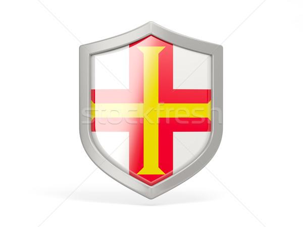 Shield icon with flag of guernsey Stock photo © MikhailMishchenko