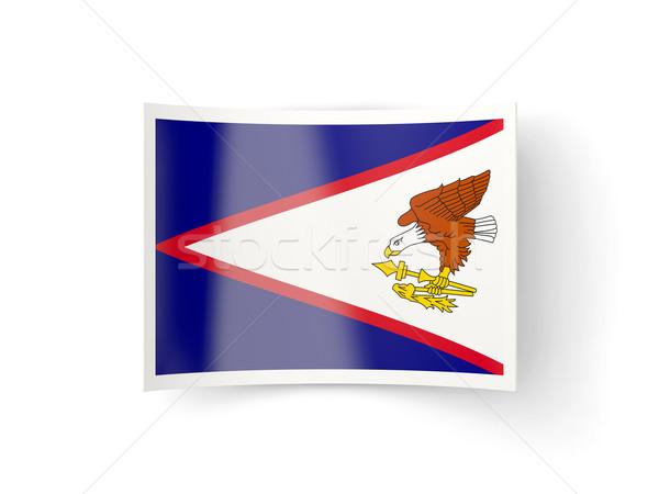 ícone bandeira Samoa Americana isolado branco país Foto stock © MikhailMishchenko