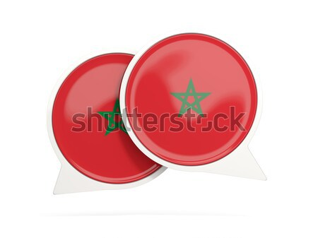Square icon with flag of morocco Stock photo © MikhailMishchenko