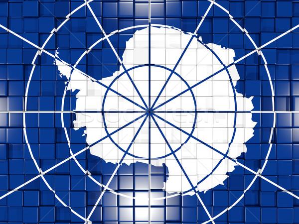 Background with square parts. Flag of antarctica. 3D illustratio Stock photo © MikhailMishchenko
