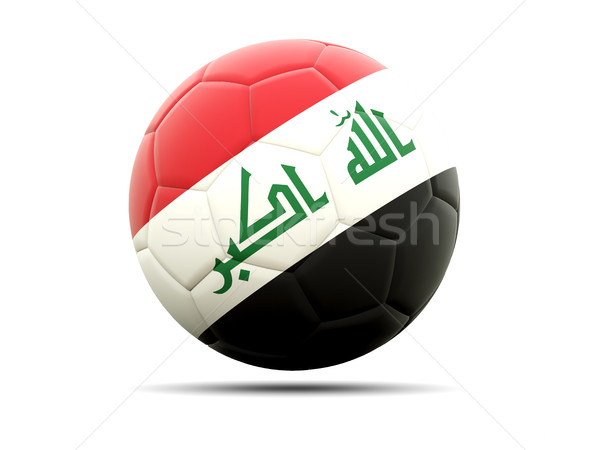 Futebol bandeira Iraque ilustração 3d futebol esportes Foto stock © MikhailMishchenko