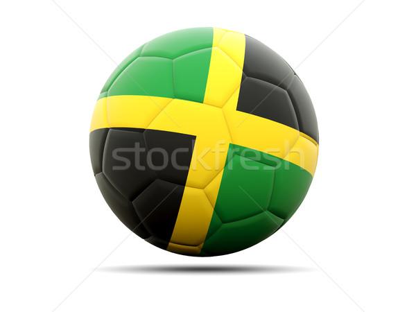 Football pavillon Jamaïque 3d illustration football sport Photo stock © MikhailMishchenko