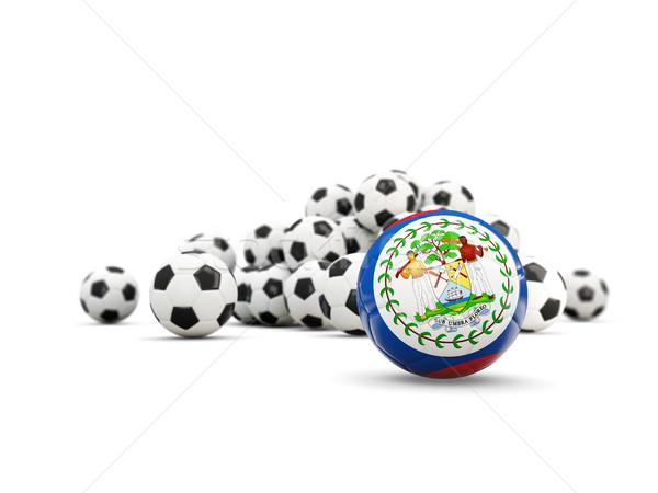 Futball zászló izolált fehér 3d illusztráció sport Stock fotó © MikhailMishchenko