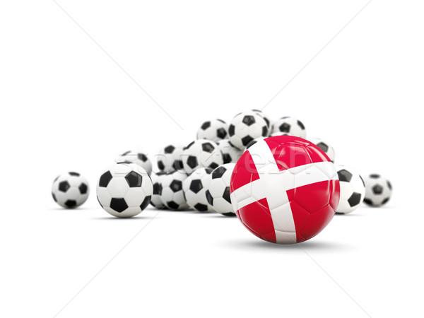 Football with flag of denmark isolated on white Stock photo © MikhailMishchenko