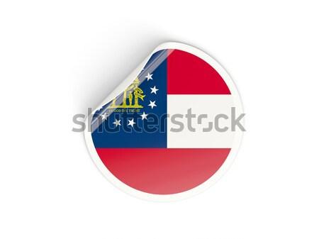 Bandera etiqueta aislado blanco 3d etiqueta Foto stock © MikhailMishchenko