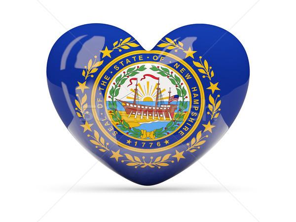 Bayrak yeni kalp ikon yalıtılmış beyaz Stok fotoğraf © MikhailMishchenko