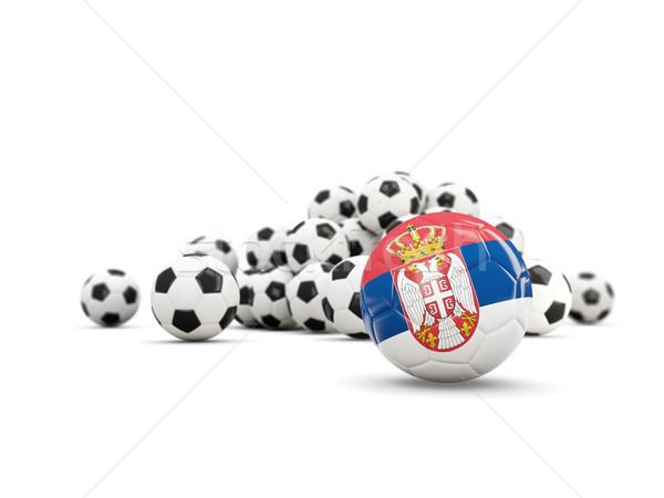Fútbol bandera aislado blanco 3d Foto stock © MikhailMishchenko