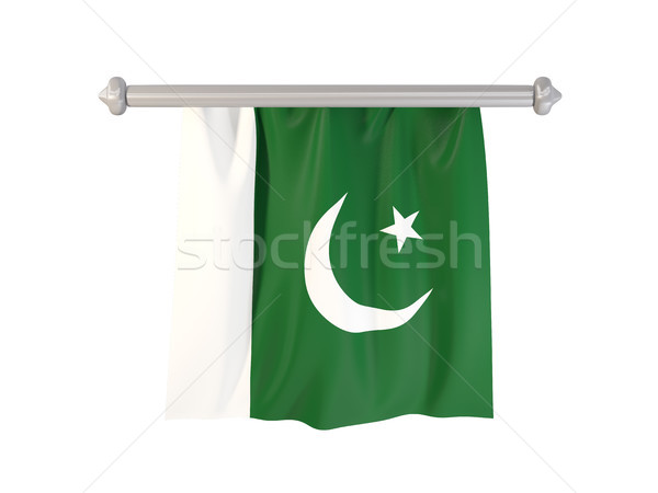 Stockfoto: Vlag · Pakistan · geïsoleerd · witte · 3d · illustration · label
