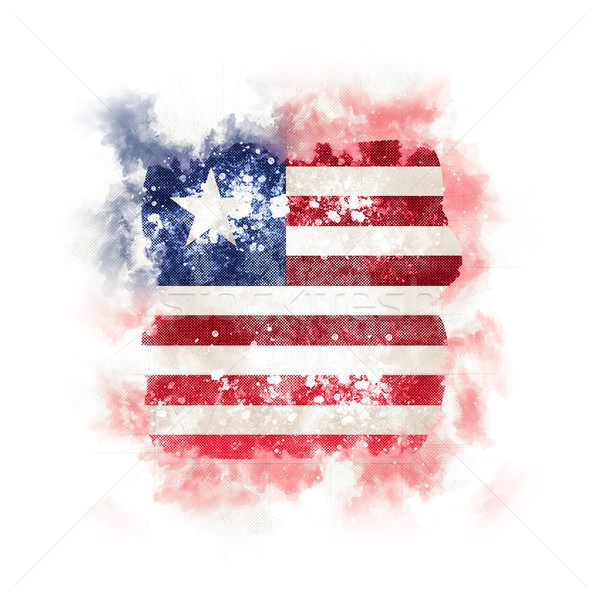 Square grunge flag of liberia Stock photo © MikhailMishchenko