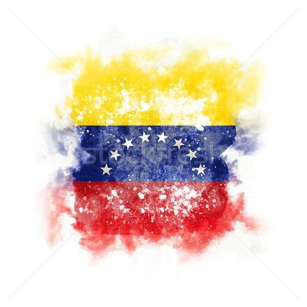 Tér grunge zászló Venezuela 3d illusztráció retro Stock fotó © MikhailMishchenko