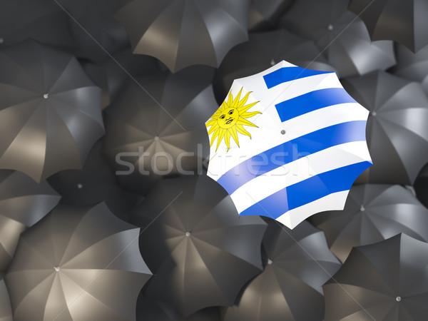 зонтик флаг Уругвай Top черный Сток-фото © MikhailMishchenko
