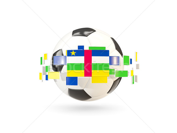 サッカーボール 行 フラグ フラグ セントラル アフリカ ストックフォト © MikhailMishchenko