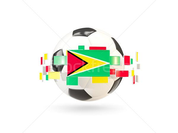 Futballabda vonal zászlók zászló Guyana lebeg Stock fotó © MikhailMishchenko